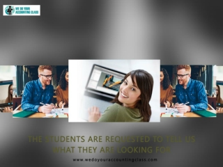 The students are requested to tell us what they are looking for