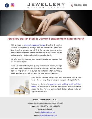 Jewellery Design Studio: Diamond Engagement Rings in Perth