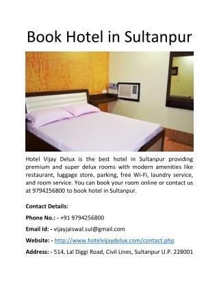 Book Hotel in Sultanpur