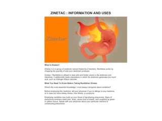 ZINETAC : INFORMATION AND USES