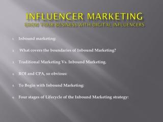 Influencer MarketingGrow your business with Digital Influencers