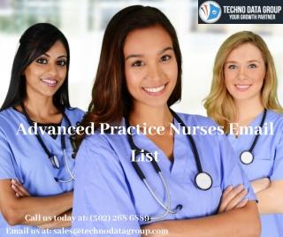 Advanced Practice Nurses Email List   Nurses Mailing List in USA