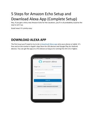 Secret Functions of Amazon Echo and Its Setup with Alexa App