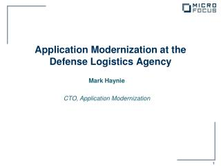 Application Modernization at the Defense Logistics Agency