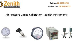 Air Pressure Gauge Calibration - Zenith Instruments