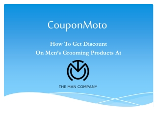 How to The Man Company Coupon Code?