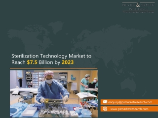 Sterilization Technology Market -Technology, Trends, Share and Industry Analysis Forecast, to 2023