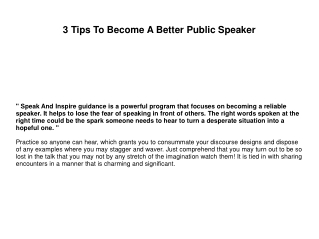 3 Tips To Become A Better Public Speaker