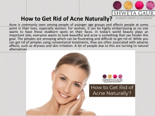 How to Get Rid of Acne Naturally?