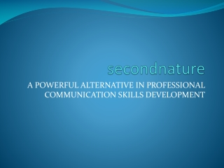 secondnature - communication skills training