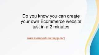 Create Free Website - More Customers App