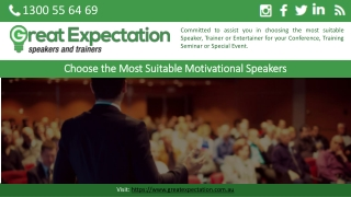 Choose the Most Suitable Motivational Speakers