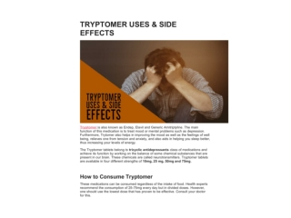 TRYPTOMER USES & SIDE EFFECTS