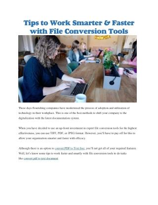 Convert PDF to Text free