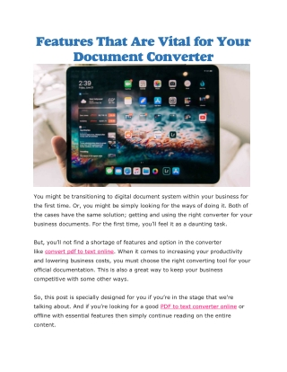 PDF to text converter online