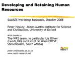 Developing and Retaining Human Resources