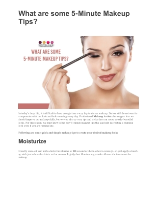 What are some 5-Minute Makeup Tips?