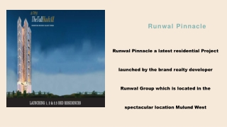 Runwal Pinnacle Mulund Call 8130629360 for flooor Plans, price