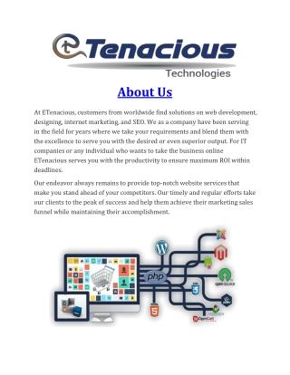 Service of E-Tenacious Company
