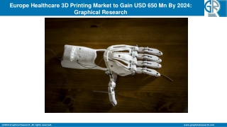 Europe Healthcare 3D Printing Market Value to Grasp Over $650 Mn by 2024