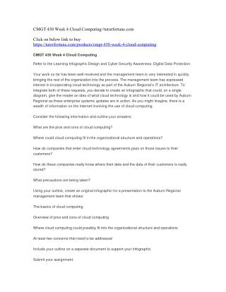 CMGT 430 Week 4 Cloud Computing//tutorfortune.com