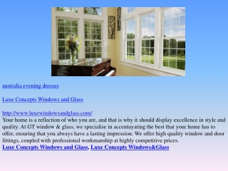 Luxe Concepts Windows and Glass