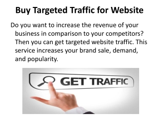Buy Targeted Traffic for Website