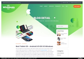 Best Tablet OS – Android VS iOS VS Windows