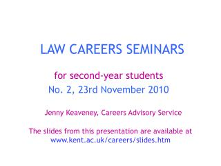 LAW CAREERS SEMINARS