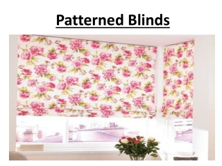 Patterned Blinds In Dubai
