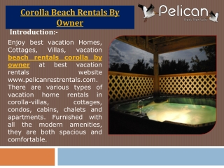Corolla Beach Rentals By Owner