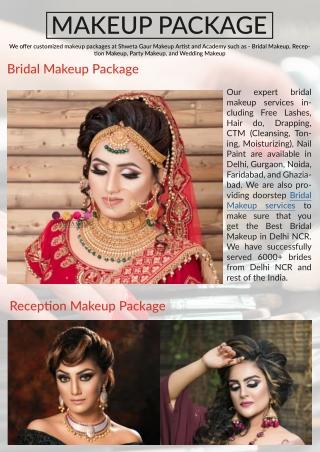 Best Bridal Makeup Packages | Book Makeup Artist in Delhi