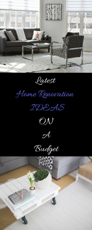 Latest Home Renovation on a budget