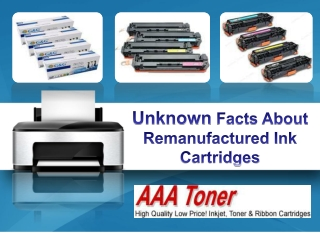 Unknown Facts About Remanufactured Ink Cartridges
