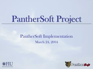 PantherSoft Project