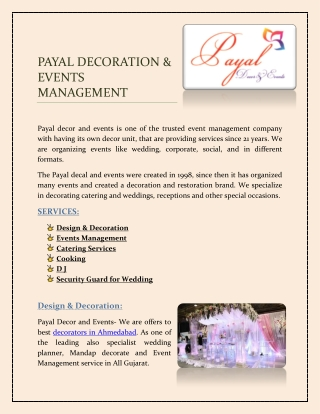 Mandap Decorators | Wedding Planner | Event Management | Ahmedabad- With Payal decor and events