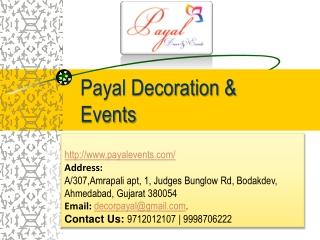 Decorators, Mandap Decorators, Wedding Planner - Payal Decor and Events