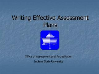 Writing Effective Assessment Plans