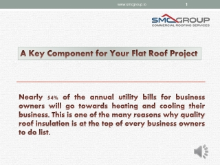 A Key Component for Your Flat Roof Project