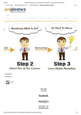 Digital marketing & SEO training institute
