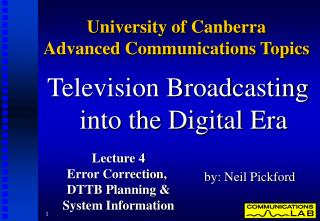 University of Canberra  Advanced Communications Topics