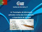 As Tecnologias da Informa  o  aplicadas    rea das Contribui  es   - a Experi ncia de Portugal