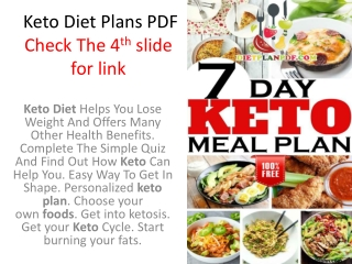 Keto & Low Carb Diet Meal Plans PDF