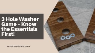 3 Hole Washer Game – Know the Essentials First!