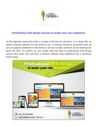 Professional web design services to make your site responsive