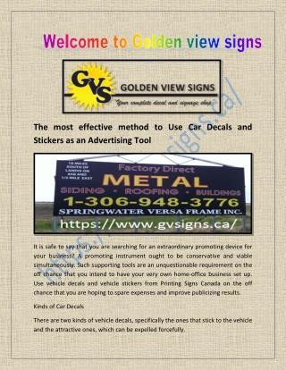 Printing Signs Canada and Decals Printing Saskatchewan