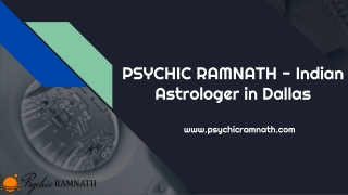 PSYCHIC RAMNATH - Indian Astrologer in Dallas