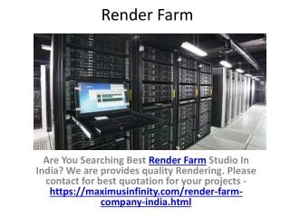 Leading 3D Render Farm Services