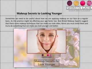 Makeup Secrets to Looking Younger