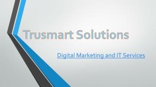 Digital Marketing | Search Engine Optimization (SEO) | TrusmartSolutions